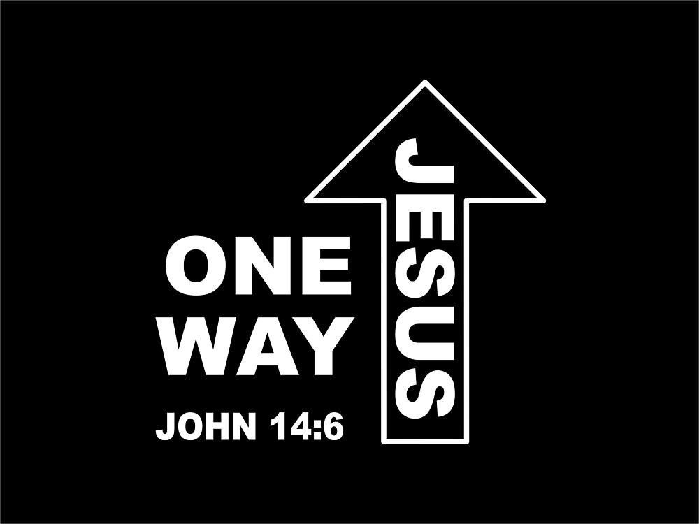 One Way - Jesus with Bible Verse John 14 verse 6 by simplydesignart