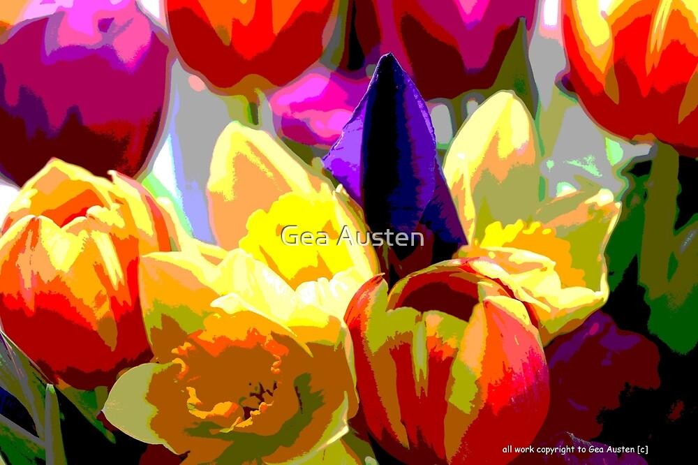SPRING FLOWERS by Gea Austen