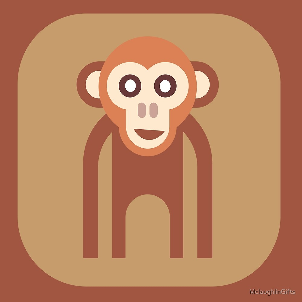 Abstract Funky Monkey by MclaughlinGifts