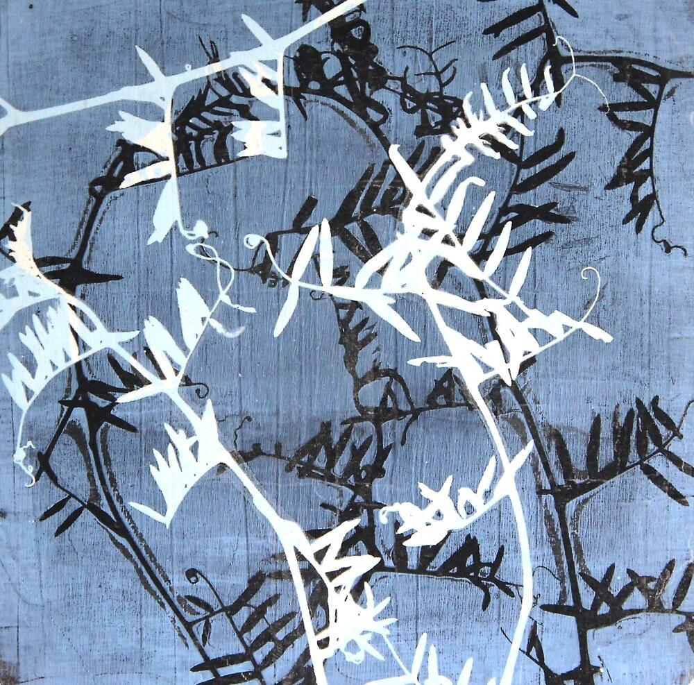 Botanical print. Blue by Nataliya Denisova