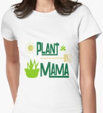 Plant Mama Design For Gardeners Women's Fitted T-Shirt