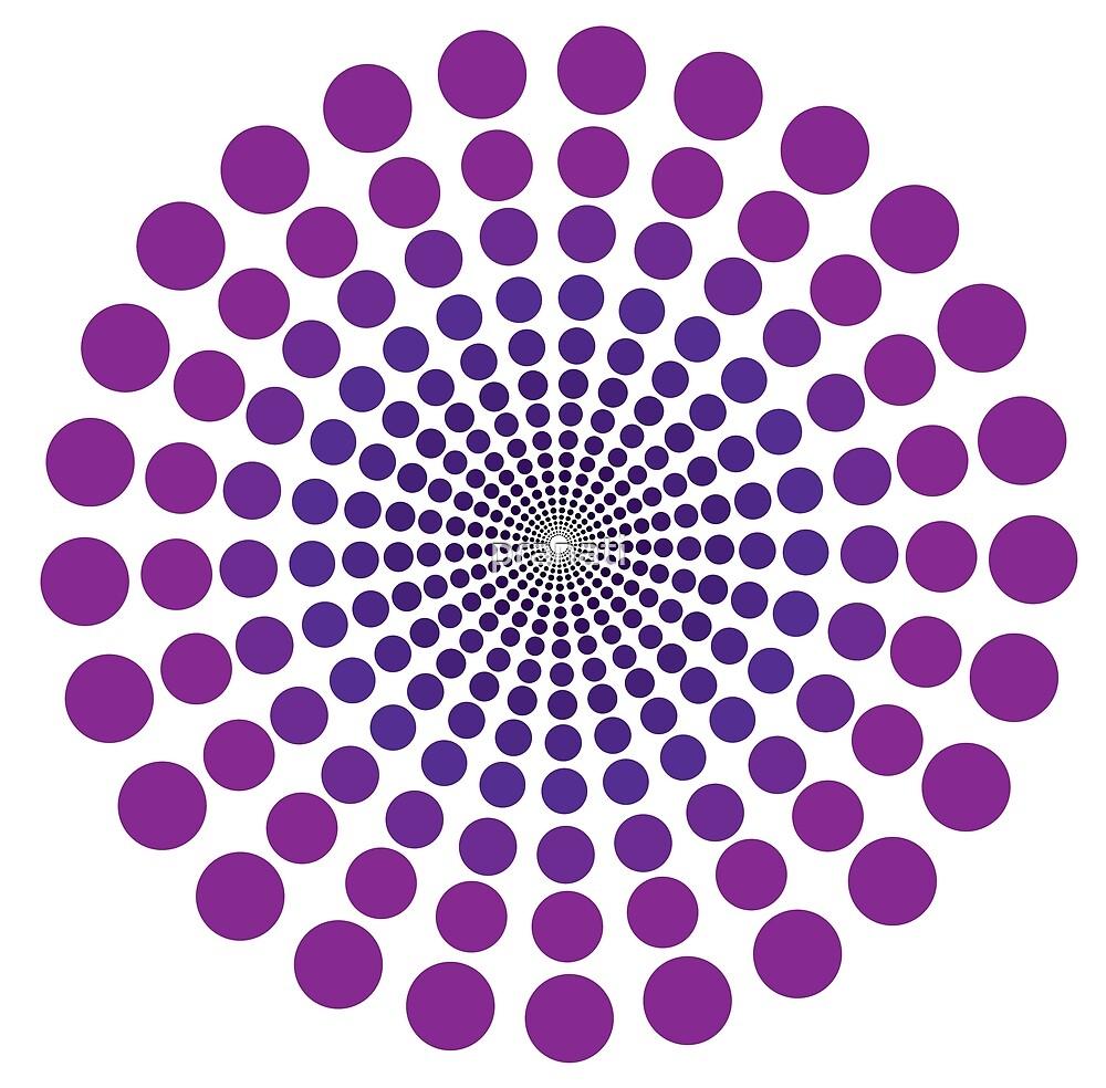 circular violet polka dots by pranati