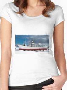 Up On Stilts For Winter Women's Fitted Scoop T-Shirt