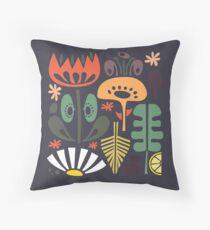 Scandinavian Wildflowers Throw Pillow