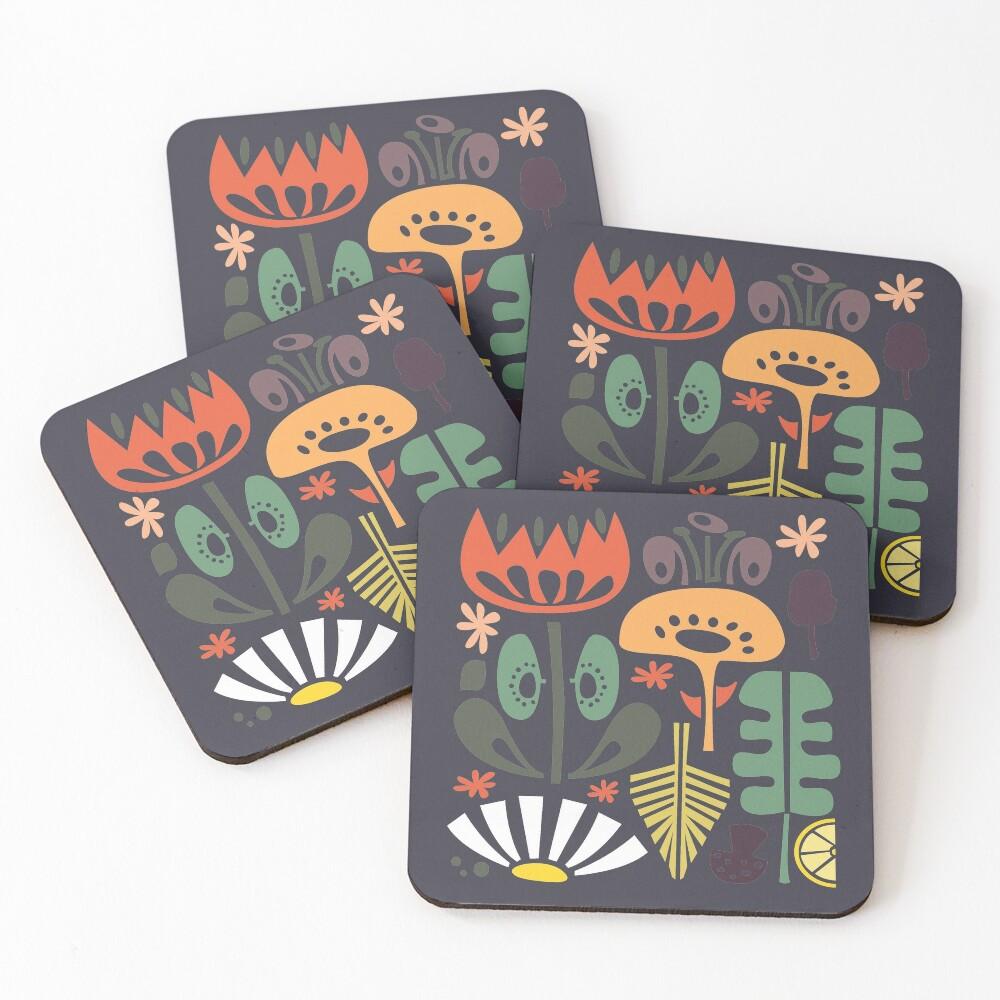 Scandinavian Wildflowers Coasters (Set of 4)