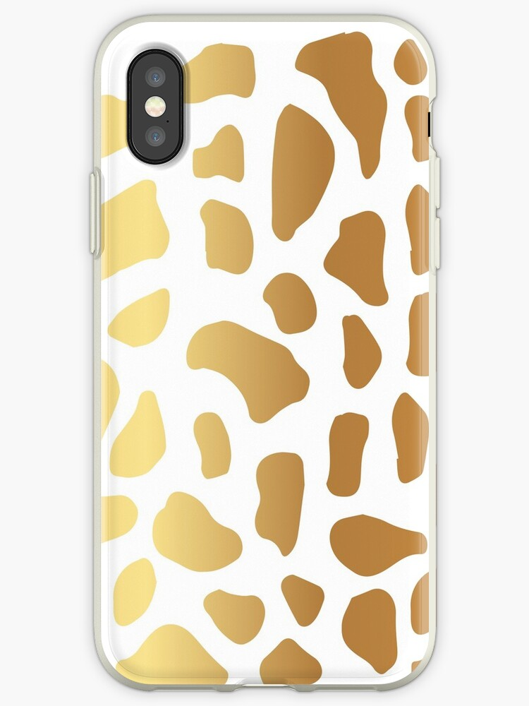 Gold Spot Animal Skin on White Background by Maricrism