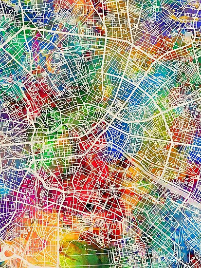 Berlin Germany City Map by Michael Tompsett