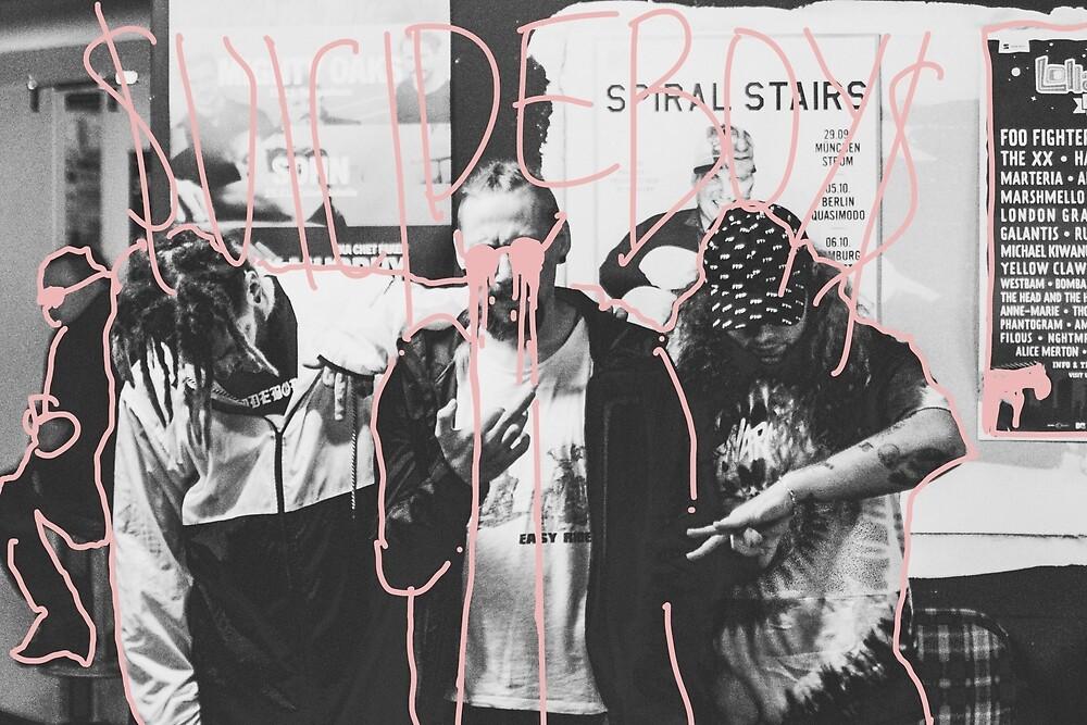 Suicideboys portrait line design by RapSentacion