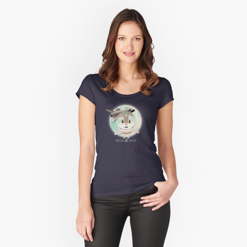 I Love You To The Moon And Back Women's Fitted Scoop T-Shirt Front