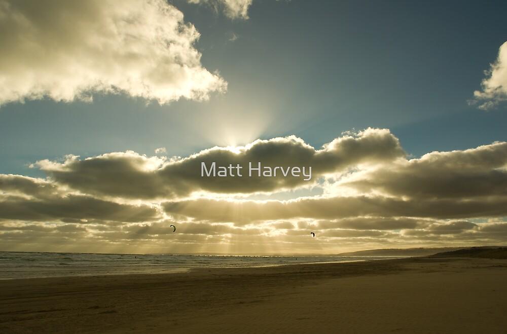 Sunrays over Goolwa Beach by Matt Harvey