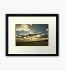 Sunrays over Goolwa Beach Framed Print