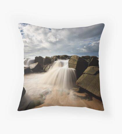 Seaside Waterfalls Throw Pillow