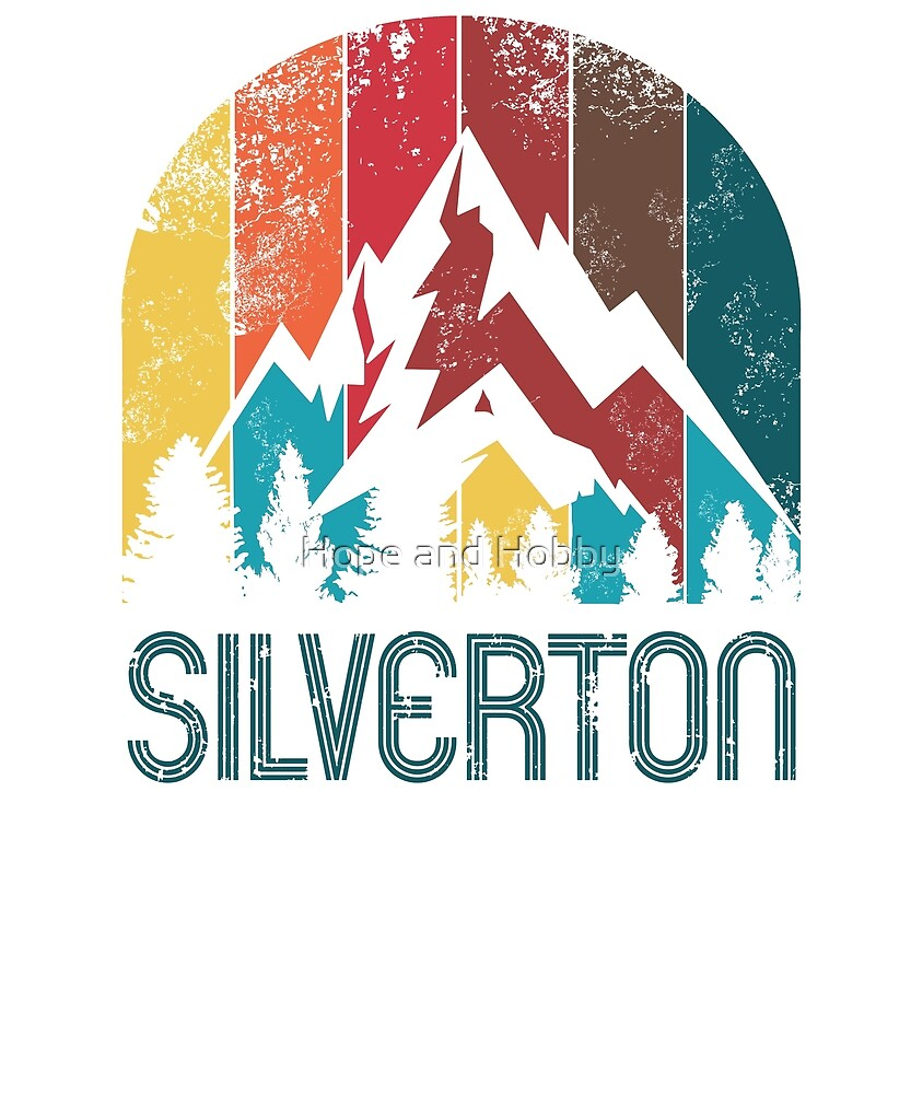 Retro City of Silverton T Shirt for Men Women and Kids by Theodore Cory