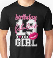 19. Geburtstag Shirt für Teenager Mädchen Pink Kiss Unisex T-Shirt