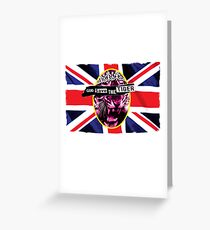 God Save The Tiger Greeting Card