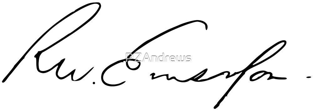Ralph Waldo Emerson Signature by PZAndrews