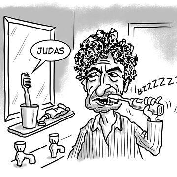 Bob Dylan Judas by goddardcartoons