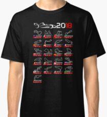 Calendar F1 2018 circuits sport Classic T-Shirt