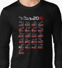 Calendar F1 2018 circuits sport Long Sleeve T-Shirt