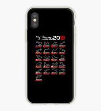 Calendar F1 2018 circuits sport iPhone Case