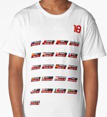 Calendar F1 2018 circuits sport Long T-Shirt