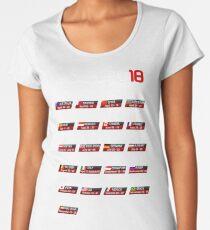 Calendar F1 2018 circuits sport Women's Premium T-Shirt