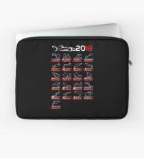Calendar F1 2018 circuits sport Laptop Sleeve