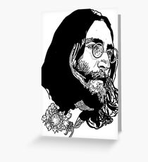 Black beatles greeting cards redbubble lennon greeting card m4hsunfo Choice Image