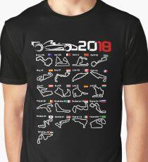 Calendar F1 2018 circuits Graphic T-Shirt