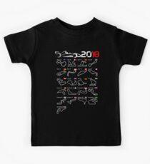 Calendar F1 2018 circuits Kids Tee