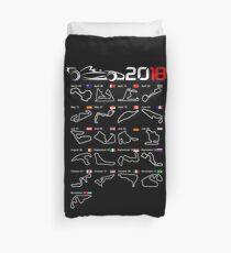 Calendar F1 2018 circuits Duvet Cover