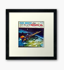 Tunes Of The Fantastic 50s, plane, airplane, space Framed Print