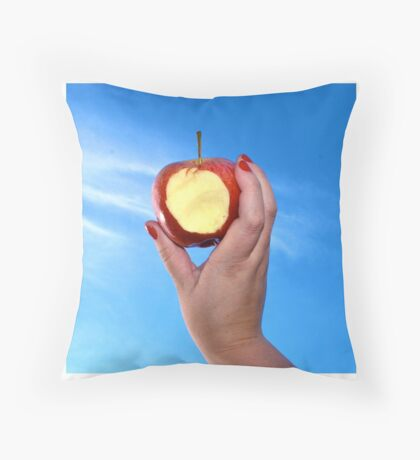 Red Apple - #WalkInRed2015 Throw Pillow