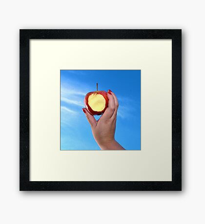 Red Apple - #WalkInRed2015 Framed Print