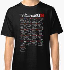Calendar F1 2018 named circuits Classic T-Shirt