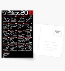Calendar F1 2018 named circuits Postcards