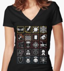 Rainbow Six Siege Operator Icons  Women's Fitted V-Neck T-Shirt