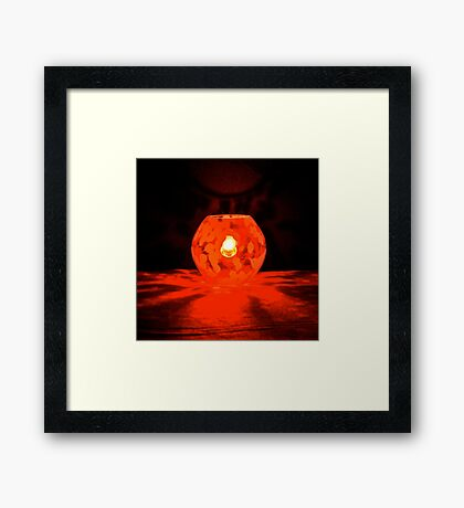 #LIUR – light it up red – #WalkInRed2015 Framed Print