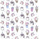 white magical unicorn foods cakes cupcakes icecream cones with unicorns by Andrea Lauren