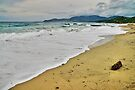 Waves and clouds over Gigaro beach by Patrick Morand