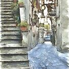 Foreshortening with stairs by Giuseppe Cocco