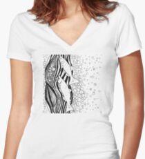 Chinook Salmon Running Women's Fitted V-Neck T-Shirt