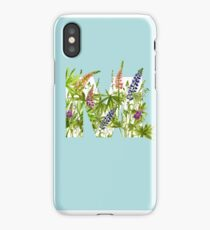 Watercolor lupin iPhone Case
