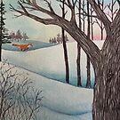 Fox on Winter Run by MarikaMakes