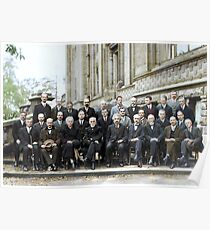 The most intelligent picture ever taken: Participants of the 5th Solvay Conference on Quantum Mechanics, 1927. 17 of the 29 attendees were or became Nobel Prize winners. Poster
