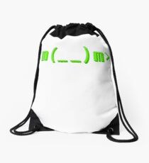 Kowtow kaomoji emoticon Drawstring Bag