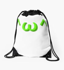 Bear face kaomoji emoticon Drawstring Bag