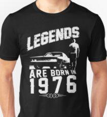 Camiseta unisex Las leyendas nacen en 1976