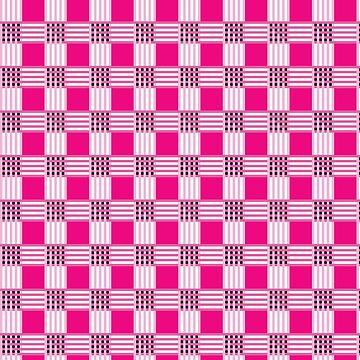 Pink squares and stripes pattern by FakeMirror
