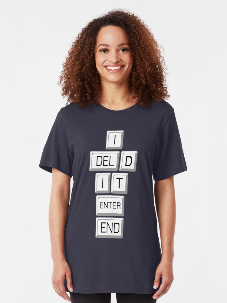 Alternate view of I Deleted it Farewell Social Media Slim Fit T-Shirt